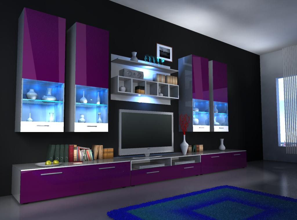 Moderne wohnw nde und wie designer wohnwand alfa ii von jv - Klassische wohnwand ...