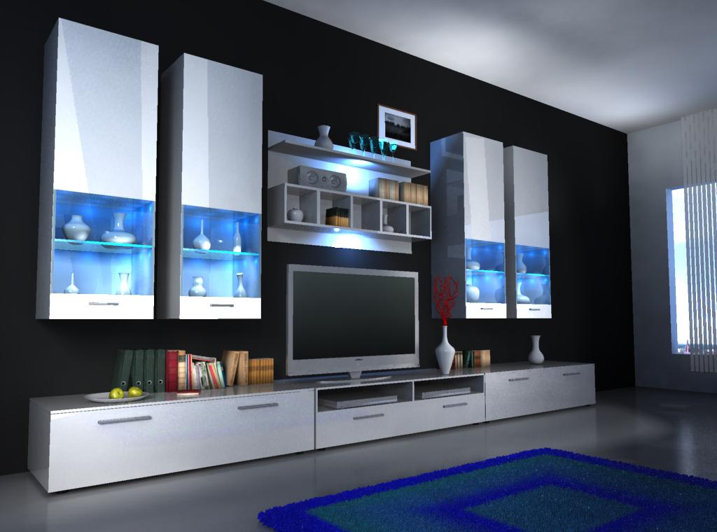 Moderne wohnw nde und wie designer wohnwand alfa ii von jv for Designer wohnwand