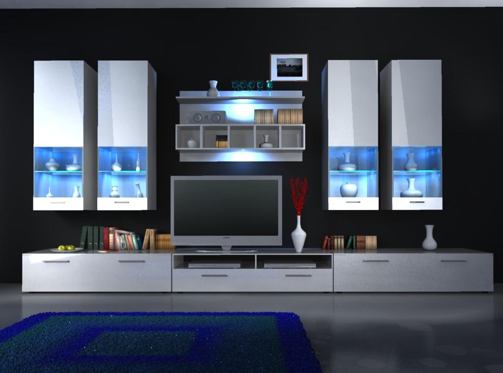 Moderne Wohnwände Und Wie Designer Wohnwand Alfa Ii Von Jv Möbel Dekorationen Fur Wohnwande