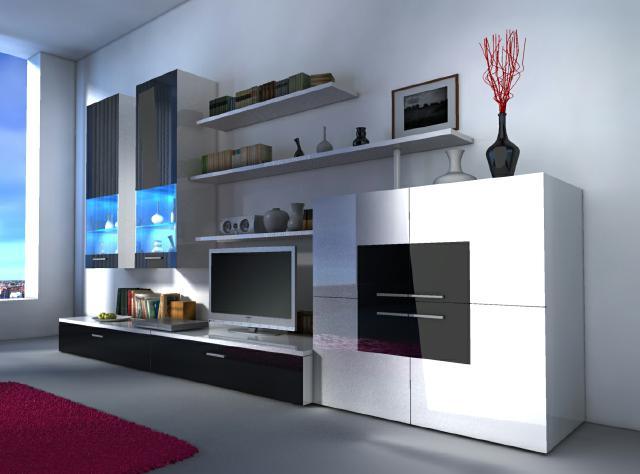 Dekoration wohnzimmerschrank  Moderne Wohnwände und wie Designer Wohnwand Delta von JV Möbel