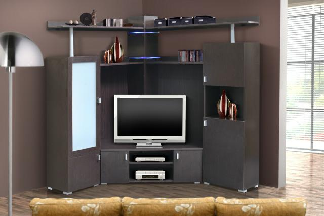 eck wohnwand modern. Black Bedroom Furniture Sets. Home Design Ideas