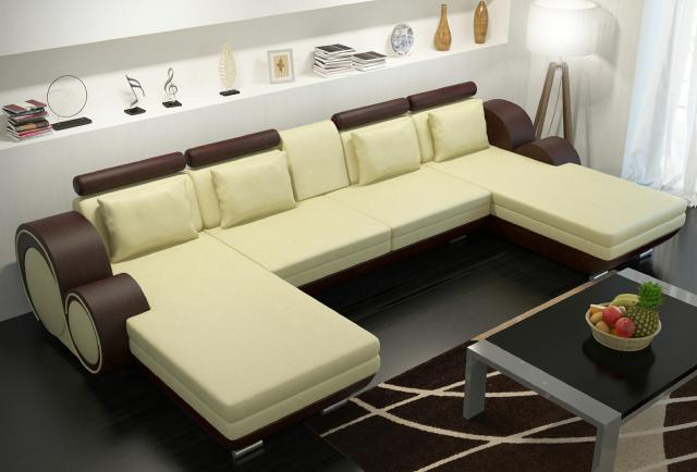 lederecksofa ledereckcouch sofa garnitur xxl liegeledersofa berlin u form couch ebay. Black Bedroom Furniture Sets. Home Design Ideas