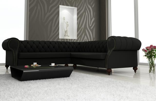 chesterfield leder sofa englisch design ledercouch eck. Black Bedroom Furniture Sets. Home Design Ideas