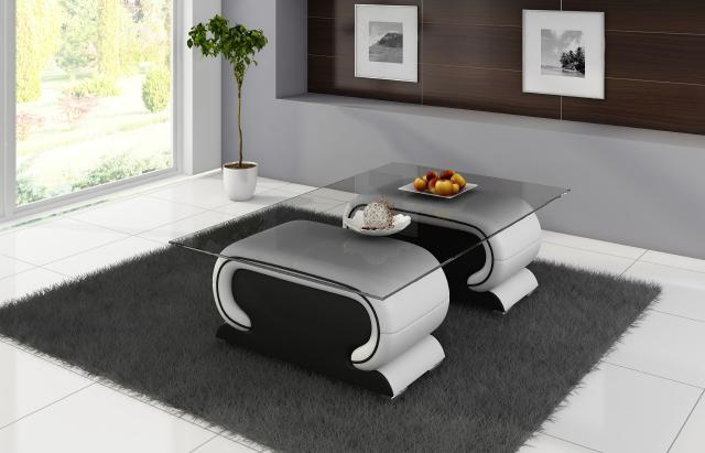 Couchtisch und Clubtisch Tisch VIGO Design Ledertisch Online kaufen