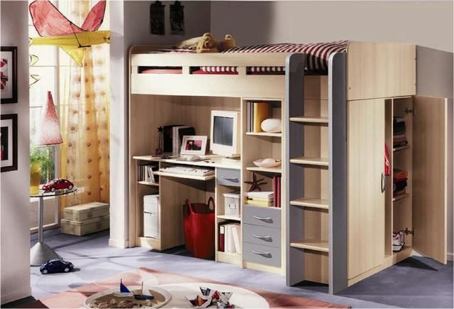 etagenbett stockbett kinder bett hochbett schreibtisch kleiderschrank farbwahl ebay. Black Bedroom Furniture Sets. Home Design Ideas