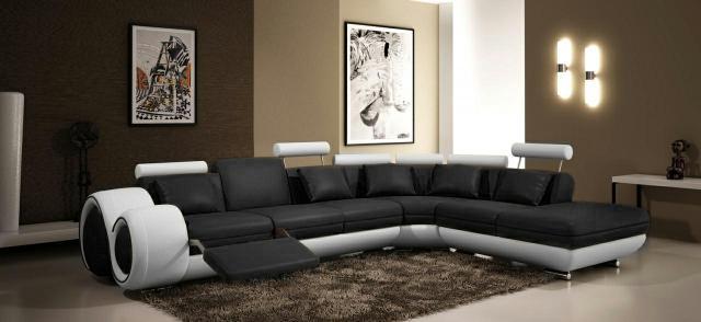 Modernes ecksofa  JVmoebel - Ledersofa Couch Sofa Ecksofa Modell Berlin V L-Form