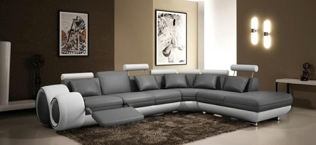ledersofa ledercouch lederecksofa garnitur sofa xxl. Black Bedroom Furniture Sets. Home Design Ideas