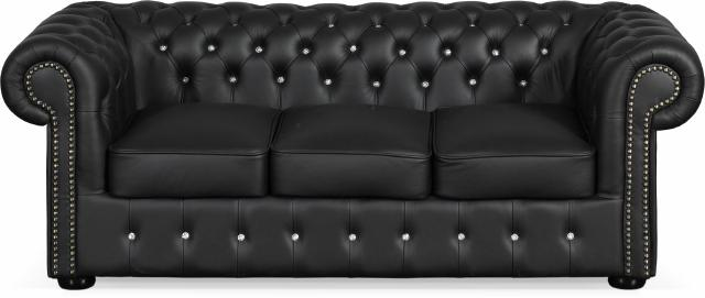 chesterfield ledersofa classic sofa fw farben schwarz braun weiss. Black Bedroom Furniture Sets. Home Design Ideas