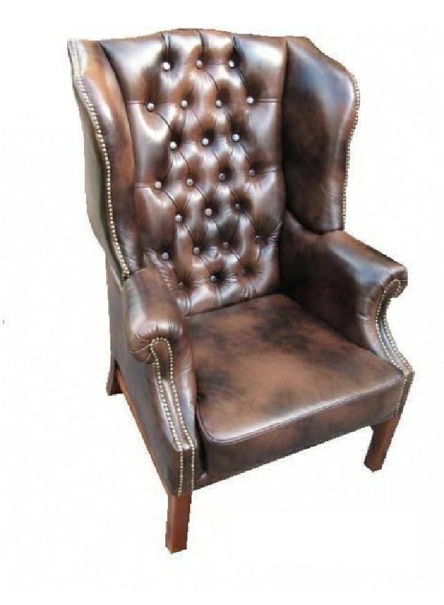 Ohrensessel chesterfield antik england sofa leder ohren for Ohrensessel leder
