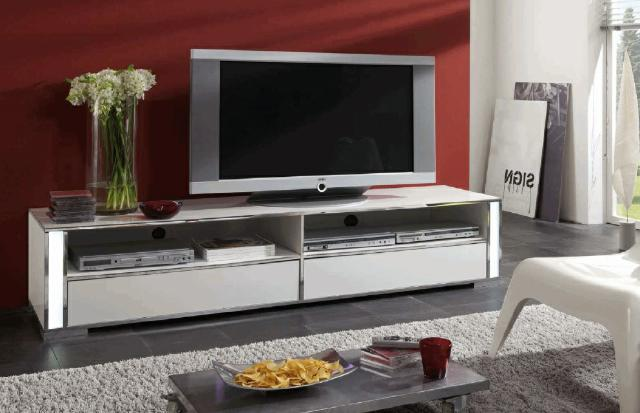 sideboard tv media medien wand board anrichte lowboard schrank hochglanz chrohm ebay. Black Bedroom Furniture Sets. Home Design Ideas