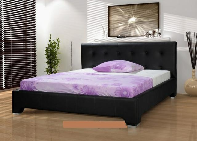 Elegantes Designer Bett Betten Lederbett Moderne Farbe Lila ...