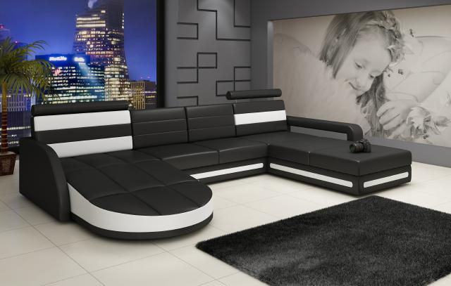 leder sofa eck sofa couch xxl wohnlandschaft garnitur ser designer ledergarnitur ebay. Black Bedroom Furniture Sets. Home Design Ideas