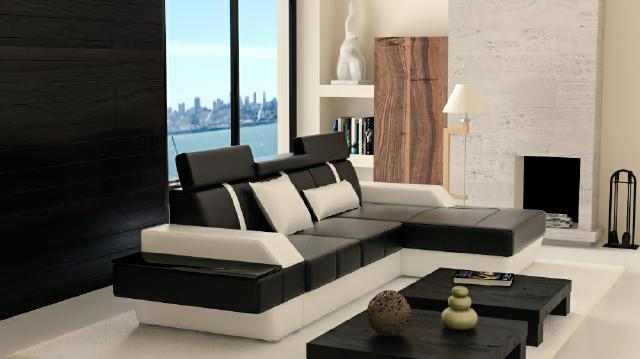 ledersofa wohnlandschaft couch sofa ecksofa eckcouch ledercouch mit federkern ebay. Black Bedroom Furniture Sets. Home Design Ideas