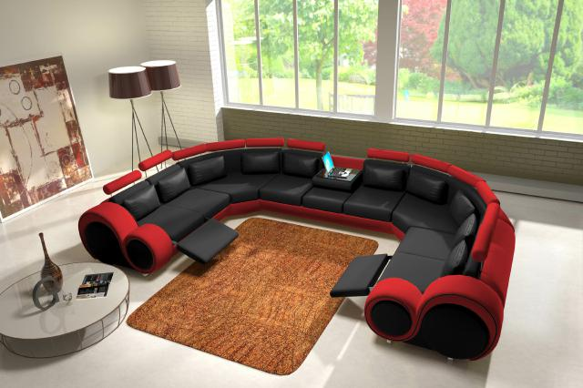 jvmoebel ledersofa couch sofa ecksofa modell berlin iv u form. Black Bedroom Furniture Sets. Home Design Ideas