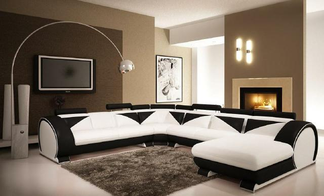 jvmoebel ledersofa big ecksofa vigo u form chaise nb. Black Bedroom Furniture Sets. Home Design Ideas