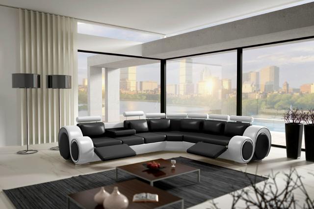ecksofa solingen v couch garnitur leder mit fußstütze sofa, Hause deko