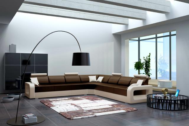 big sofa ledersofa schlafsofa ecksofa ledercouch mit bettfunktion wohnlandschaft ebay. Black Bedroom Furniture Sets. Home Design Ideas