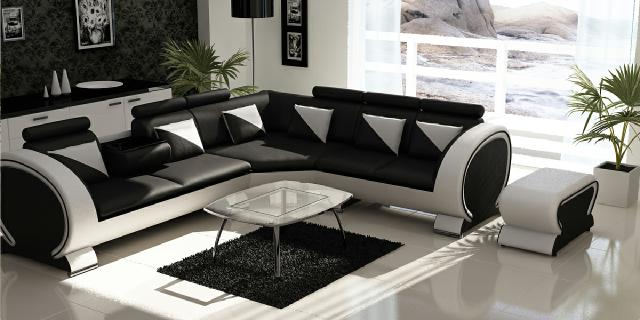 ecksofa ledersofa ledergarnitur eckcouch design farbwahl sofa leder couch ebay. Black Bedroom Furniture Sets. Home Design Ideas