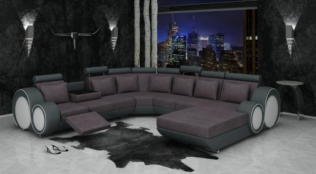 Ecksofa textil stoff polster wohnlandschaft xxl big sofa for Ecksofa textil