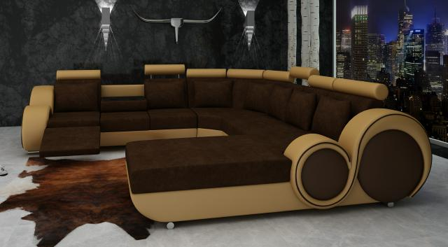 textil sofa xxl wohnlandschaft stoff couch big sofa. Black Bedroom Furniture Sets. Home Design Ideas