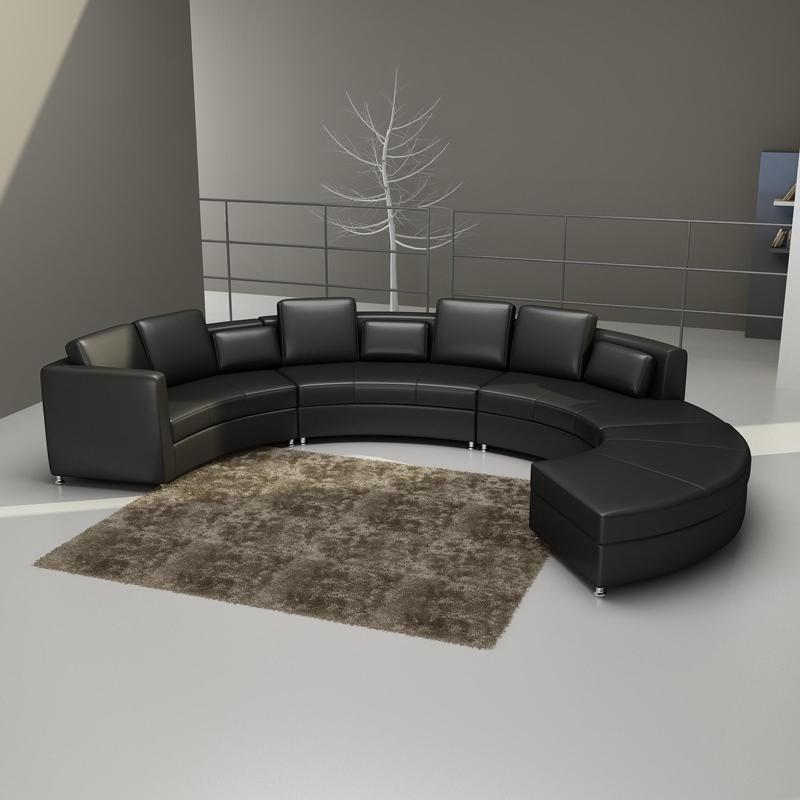 Rund sofa couch polster garnitur wohnlandschaft design for Runde wohnlandschaft