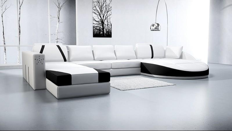 design leder sofa couch wohnlandschaft big xxl polster eck garnitur neu a1122 ebay. Black Bedroom Furniture Sets. Home Design Ideas
