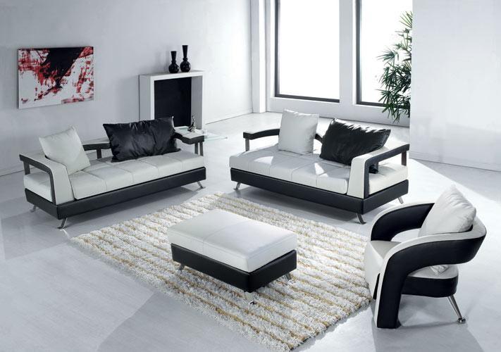 Ecksofa Sofagarnitur Leder Sofa Couch Ecke Polster Hocker Sessel Set