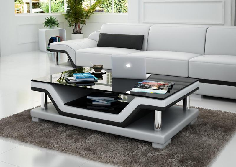 Design glastisch leder couch tisch tische glas sofa for Design couchtisch s 360