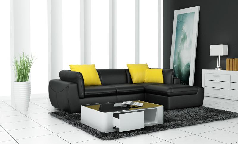 Leder Sofa Couch Eck Polster Garnitur Xxl Wohnlandschaft Couchen