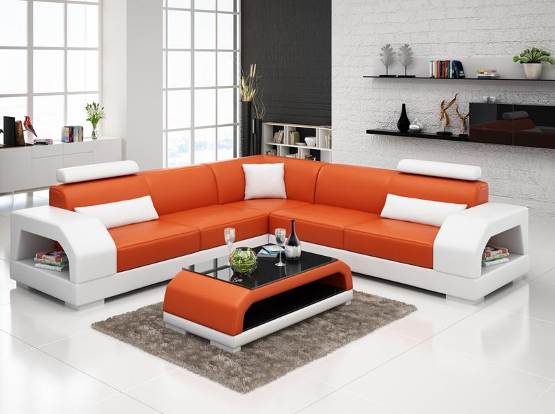design ledersofa sofa couch polster sitz eck garnitur wohnlandschaft neu g8001b ebay. Black Bedroom Furniture Sets. Home Design Ideas