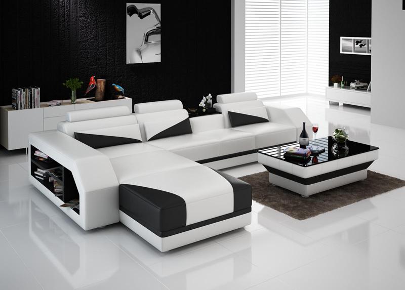 Ledersofa Couch Wohnlandschaft Ecksofa Eck Garnitur Design Modern ...