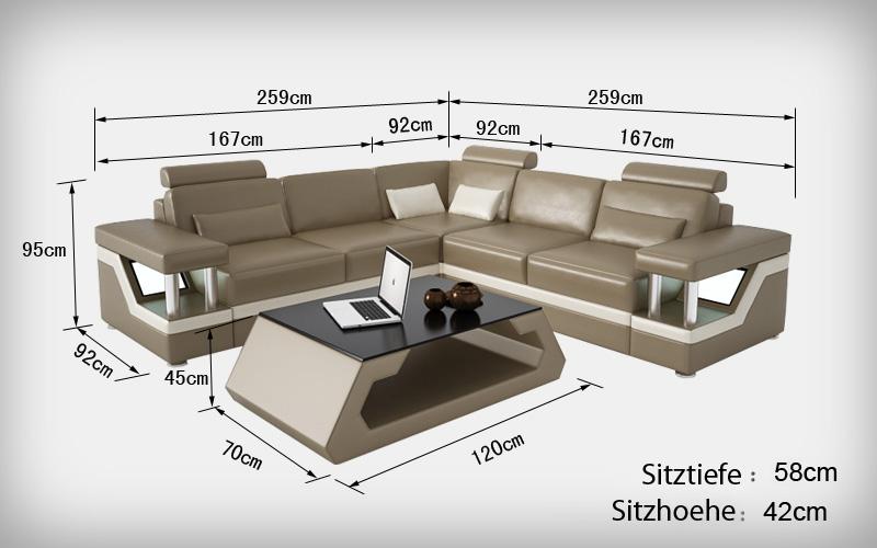 Ledersofa couch wohnlandschaft ecksofa eck garnitur design for Couchgarnitur leder italienisch