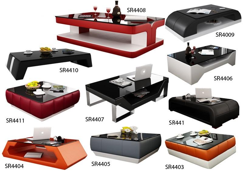 Détails sur Design Table Basse en Verre Canapé Tableaux Salon Beistell Cuir