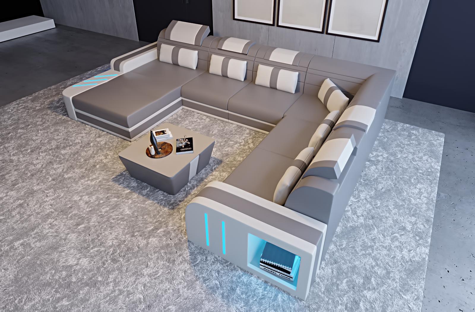 Ledersofa Eckcouch Couch Polster Sofa Wohnlandschaft Design Sitz ...