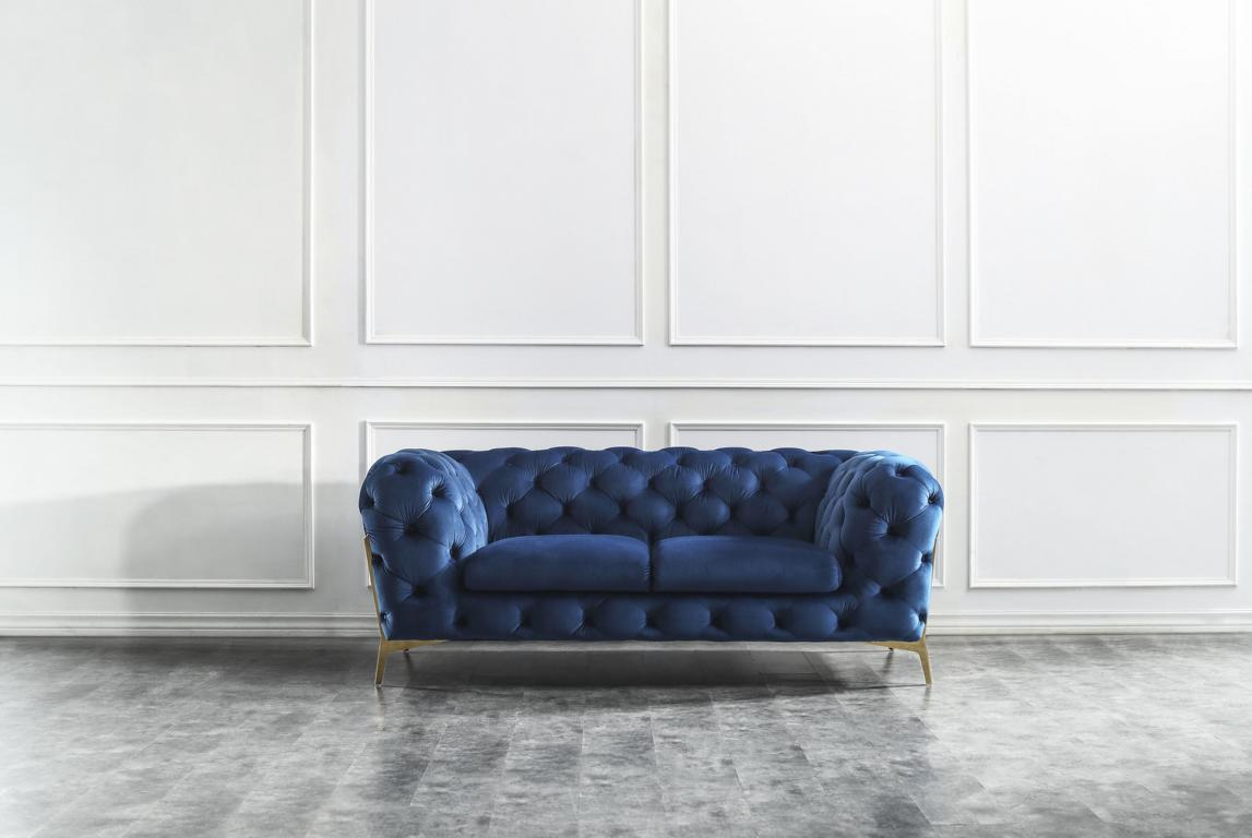 Chesterfield Edle Designer Couch Polster Stoff Textil Samt
