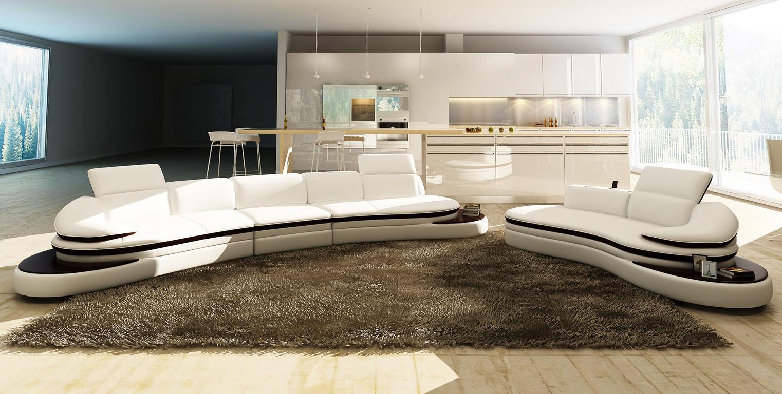 halb runde leder sofa ecksofa wohnlandschaft rund couch sitz polster garnitur ebay. Black Bedroom Furniture Sets. Home Design Ideas