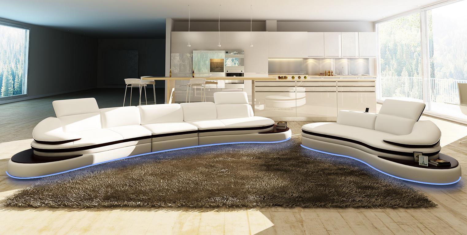Halb runde leder sofa ecksofa wohnlandschaft rund couch for Wohnlandschaft 380 cm