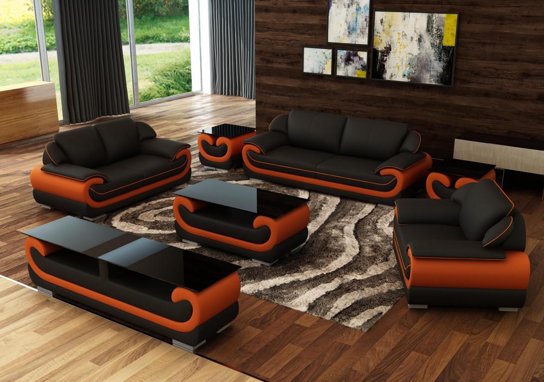Ledersofa Couch Wohnlandschaft 3 Sitzer Design Modern Sofa ...