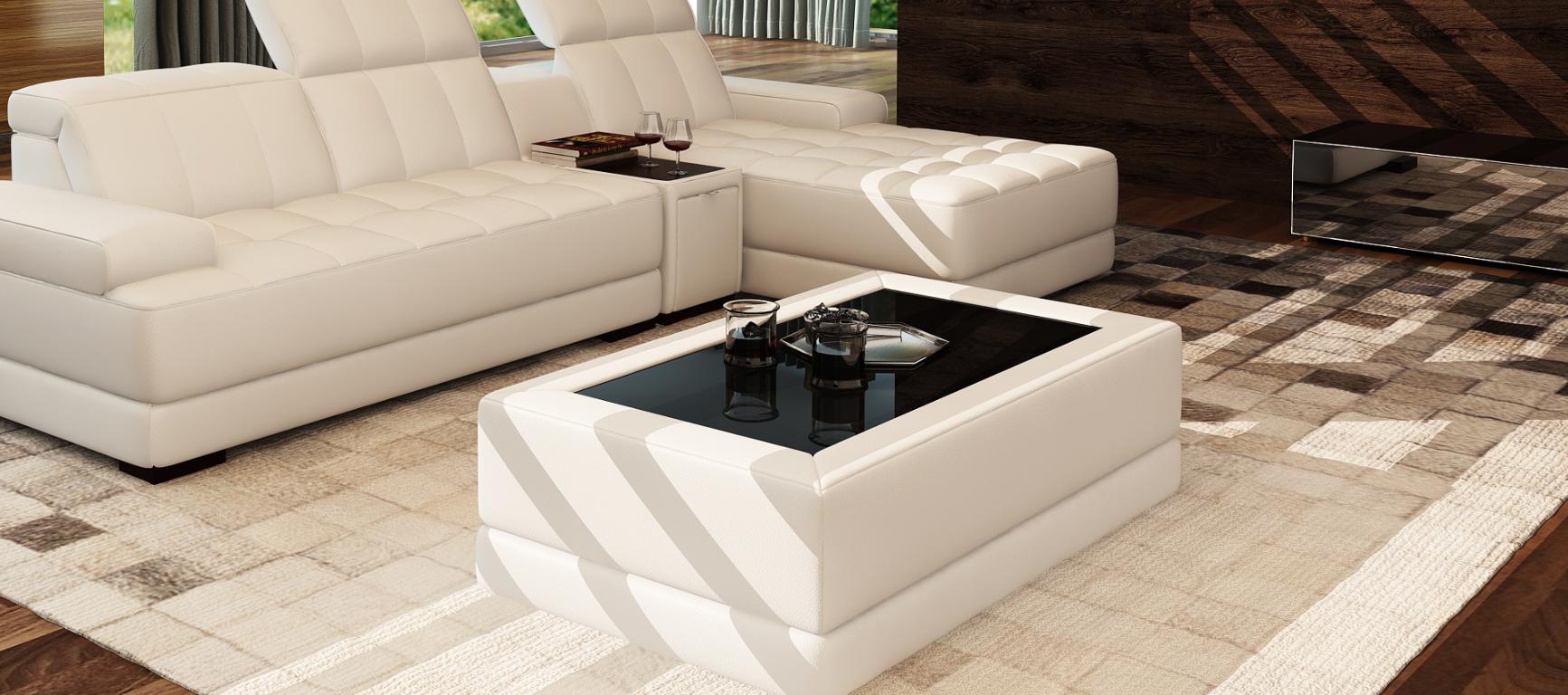 Moderner couchtisch designer tisch glastisch beistell sofa for Designer tische wohnzimmer