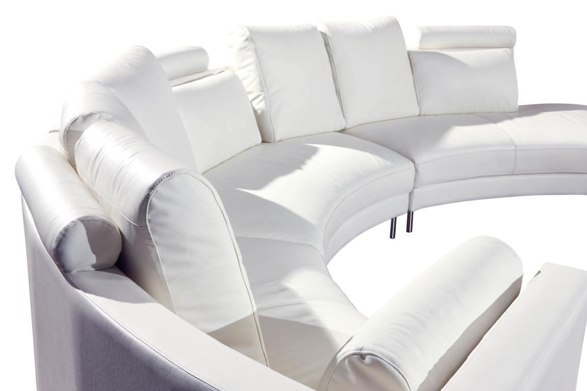 Moderne rund couch wohnlandschaft runde sofa polster eck for Runde wohnlandschaft