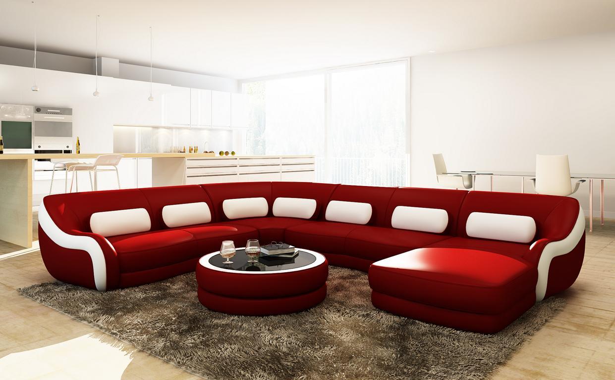 Big luxus couch wohnlandschaft ecksofa couchen sofas for Luxus wohnlandschaft leder