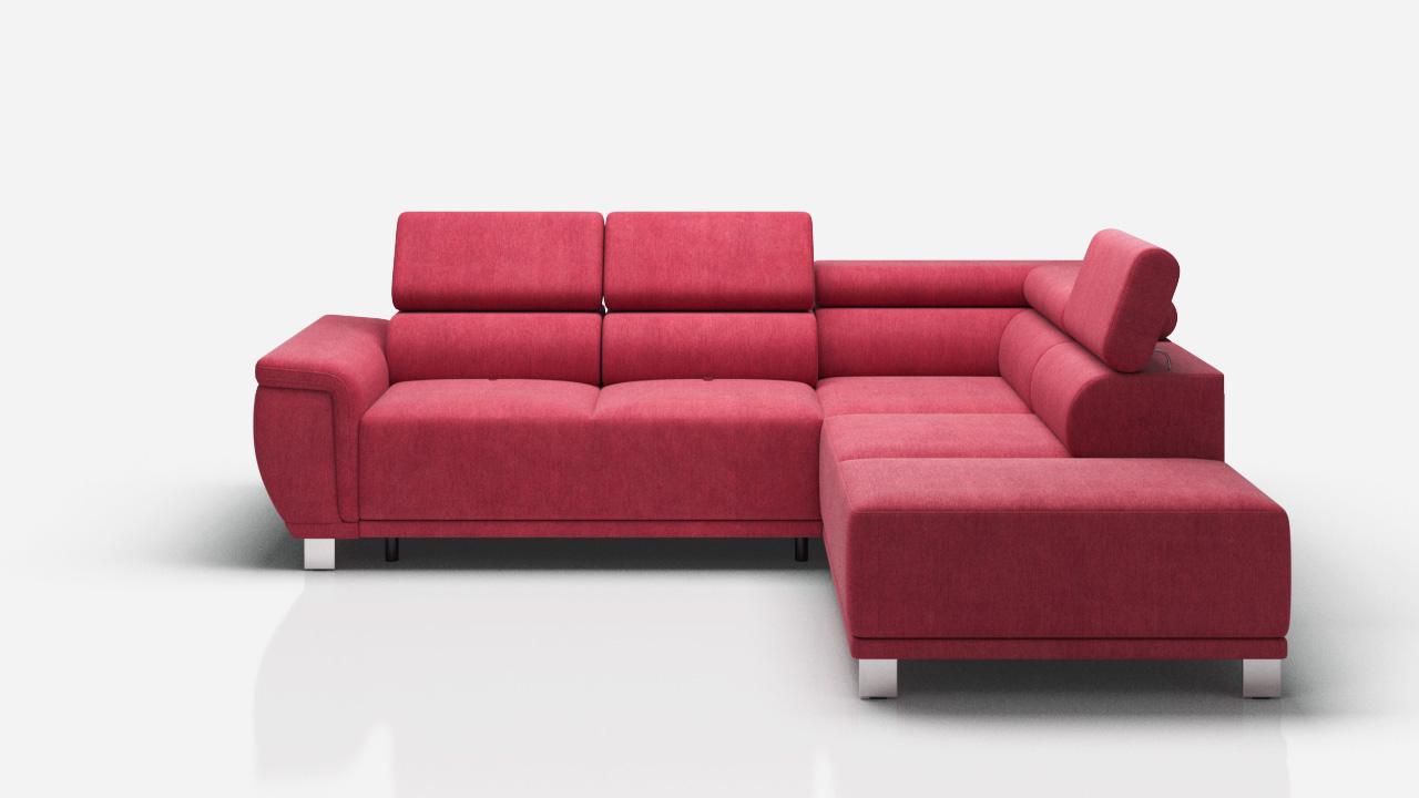 Stoff L-Form Couch Wohnlandschaft Ecksofa Garnitur Modern ...