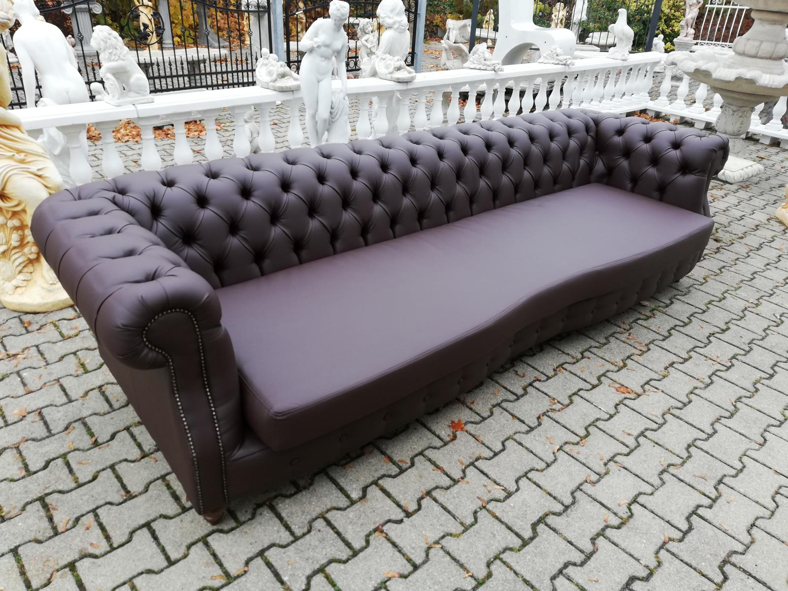 Design Chesterfield Charly 3 m Braun Couch Polster Sofas ...